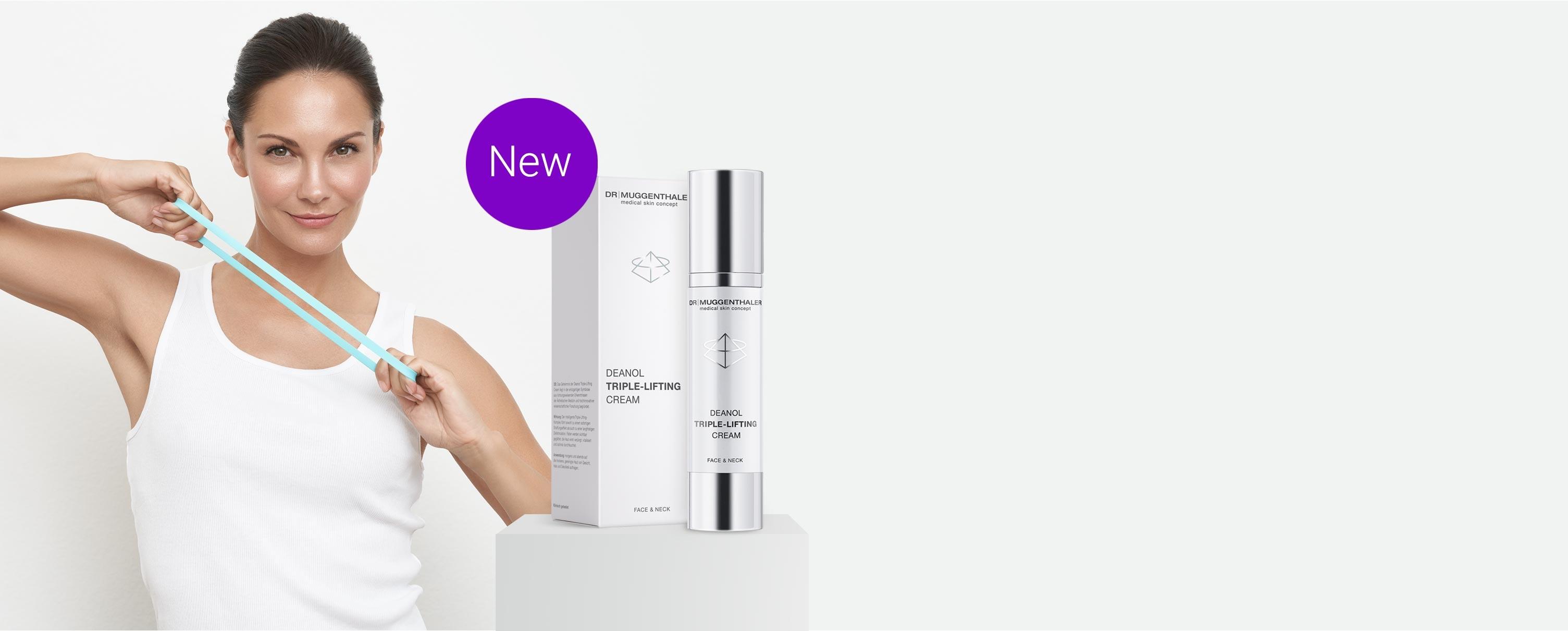The new Deanol Triple-Lifting Cream by Dr. Muggenthaler